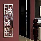 Wandgarderobe / Garderobe Design Quadrat, 140x40x2 cm, Edelstahl 3D poliert (glänzend) (Marke: Szagato, Made in Germany) (Kleiderständer Garderobenständer Wandpaneel Wanddeko Kleiderhaken Flurgarderobe)