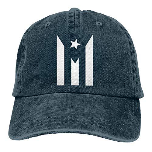 Funny Club Unisex Vintage Washed Baseball Cap Puerto Rico Resiste Boricua Flag Cotton Adjustable for Men Women