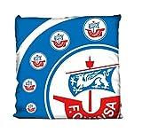 FC Hansa Rostock Cut Kissen 40x40cm (blau/weiß, one size)