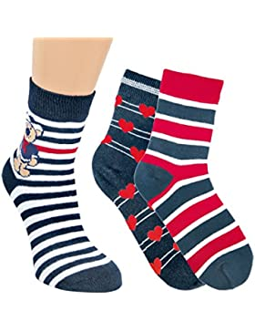 Vitasox Kinder Socken Baumwolle Ringel Mädchen Jungen Ringelsocken Kindersocken bunt ohne Naht 6er Pack
