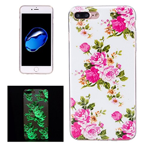 Hülle für iPhone 7 plus , Schutzhülle Für iPhone 7 Plus Noctilucent Plum Pattern IMD Verarbeitung Soft TPU Back Cover Case ,hülle für iPhone 7 plus , case for iphone 7 plus ( SKU : Ip7p1673j ) Ip7p1673c