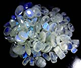 RADHEY KRISHNA GEMS 51CTS. Lotto all ingrosso naturale pietra di luna arcobaleno mix cabochon pietra preziosa