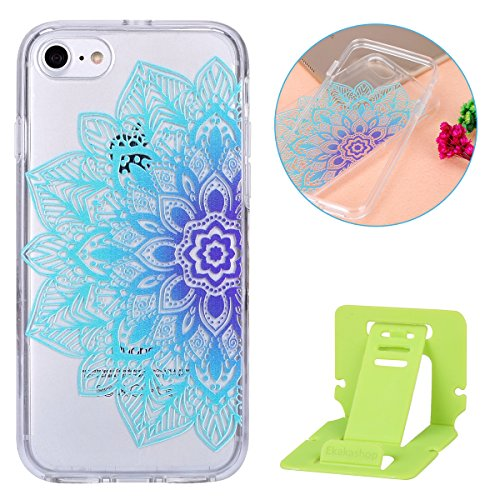 2017 Ekakashop iphone 7 4.7 pollici Custodia, 2-in-1 ultra sottile-Fit molle flessibile di caso Cover posteriore per iphone 7, Ragazza Ragazzo Crystal Clear Soft Cover gel TPU Silicone Protezione Sott B #13
