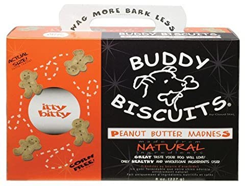 Cloud Star Itty Bitty Buddy Biscuits Dog Treats, 8oz Box, Peanut Butter by Cloud Star Corporation (English Manual)