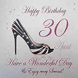 White Cotton Cards WBA30-AUNT Feliz cumpleaños