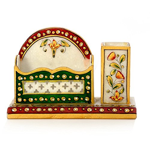 RM Meenakari Marble Pen Stand n Visiting Card Holder  available at amazon for Rs.999