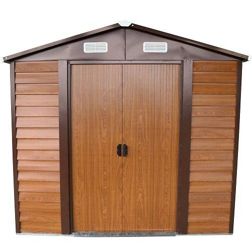 italfrom box casetta casette rimessa ripostiglio garage auto per giardino lamiera zincata - misura cm 152x193x203h