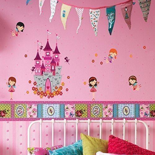 Walplus - Engel Schloss Prinzessin Kinderzimmer Wand Sticker Aufkleber Deko (Prinzessin Transfer)