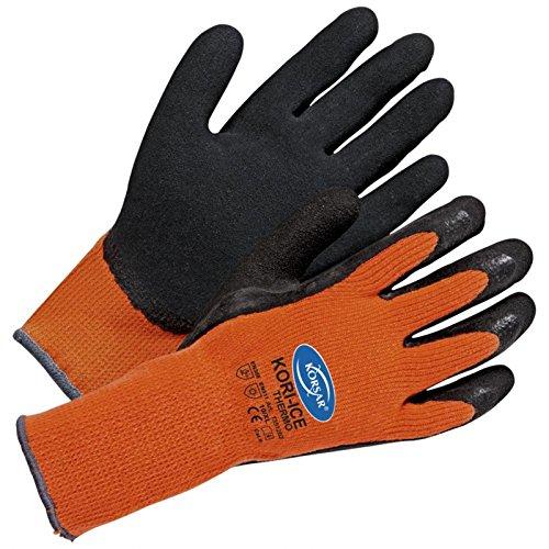 Winterhandschuhe Arbeitshandschuhe Kori-Ice Thermo - Größe 10 - orange/schwarz