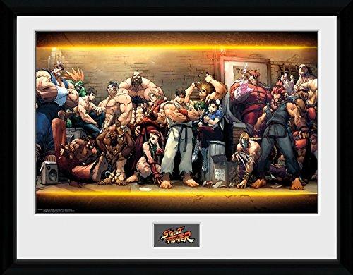 Street Fighter - Characters Póster De Colección Enmarcado (40 x 30cm)