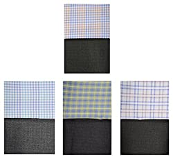 Gwalior Mens Shirts and Trouser Fabric (Pack of 8) (gwl44n_Multi-Coloured_Free size)