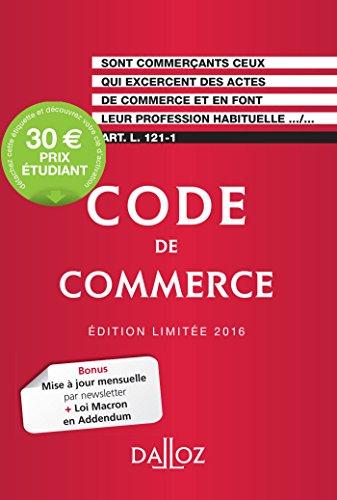 Code de commerce 2016. dition limite - 111e d.