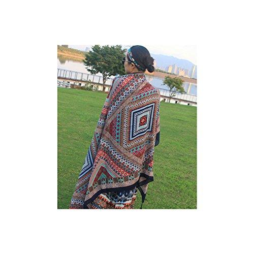NIKUD-stile bohemien rettangolare di lino e cotone telo mare nuotata coperta Yoga arazzi...