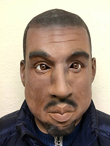 Star Kostüm Für Erwachsene Rap - Kanye Maske Schwarz Man Rapper Rap-star Promi Kostüm Masken