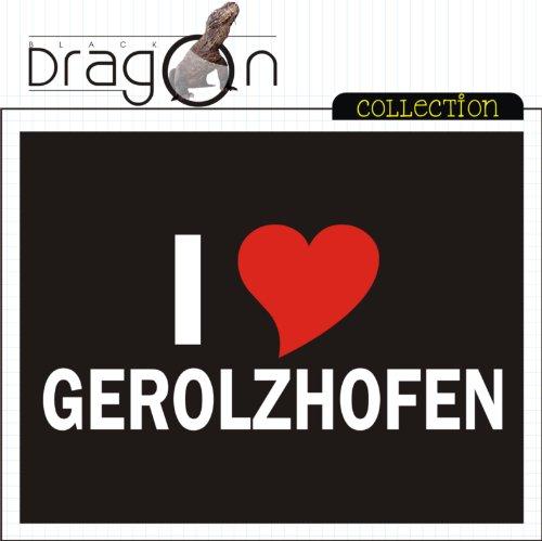 T-Shirt mit Städtenamen - i Love Gerolzhofen - Herren - unisex Schwarz