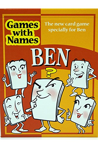 BEN'S GAME: New card game gift for men or boys called Ben or Benjamin. ideal for birthdays, Christmas, stocking fillers, secret santa etc