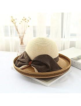 LVLIDAN Sombrero para el sol del verano Dama SolAnti-sol Beachstrawhat coffeecolor