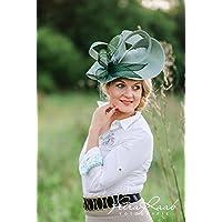 Hut Royal Ascot hat Ballhut Kentucky- Derby hat Pferderennen couture Millinery Sinamay hat Hochzeit Fascinator U30
