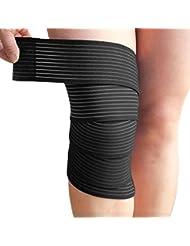 KoKeo_Store Bandage de soutien au genou à compression élastique à compression élastique - Noir