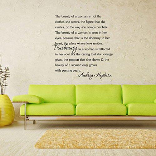 Aoligei Englisch inspirierend frische Persönlichkeit Wohnzimmer Schlafzimmerdekoration Wandaufkleber