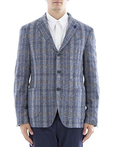 lardini-herren-ec902444-blau-polyester-blazer