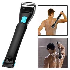 OFKPO Faltbare Herren Rückenrasierer,Elektrische Körper Haar Rasierer Haarentfernung Werkzeug