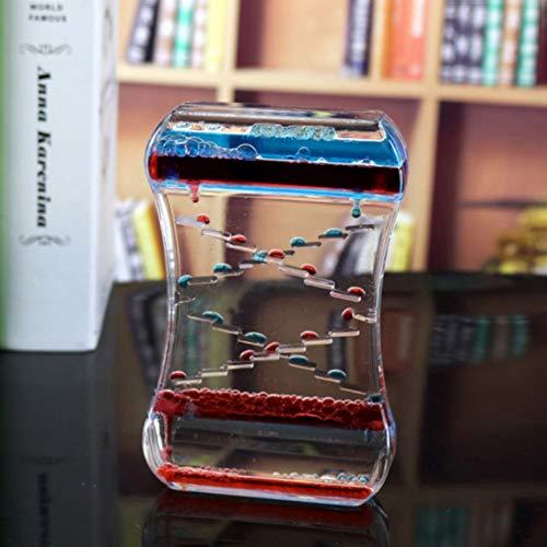 fdgdgs Doble Colores Aceite Reloj de Arena líquido Flotante Movimiento Tumbler Burbujas Temporizador Relajante Fidget Juguete Escritorio Decors