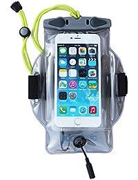 Aquapac para smartphone con salida para auriculares MP-3, colour gris-Colour, 23 x 17 x 2.5 cm, litros 0.02, 519