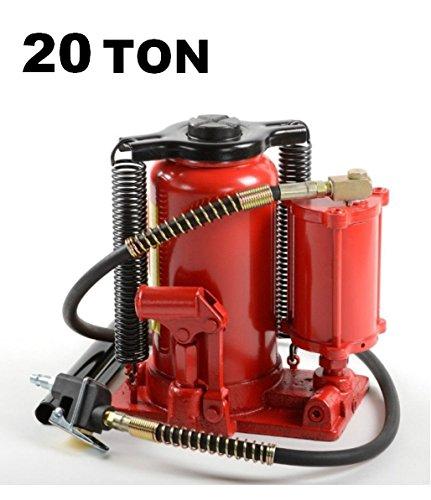 Cric/Sollevatore/Martinetto a bottiglia doppia funzione idraulico e pneumatico 20T/20000Kg
