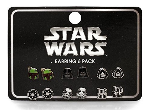 star-wars-dark-side-darth-vader-storm-trooper-boba-fette-earrings-sets-6-pairs