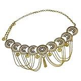 IPOTCH Catene da Pancia Moneta Gypsy Hippie Club Jewelry Gioielli per Il Corpo Essere Accoppiato con Top,Sciarpa Dell'anca - d'oro
