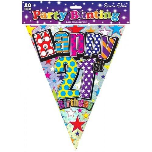 Pinata Boy Birthday Kostüm - Bunting Happy 21st Birthday