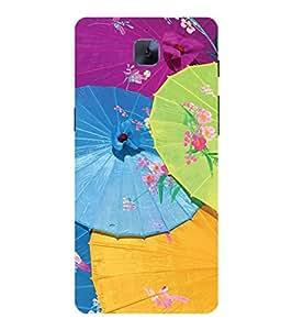 YuBingo OnePlus 3 :: OnePlus Three :: One Plus 3 Designer Phone Back Case Cover ( Colourful Umbrellas )