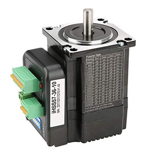 Nema 23 Schrittmotor Stepper Motor IHSS57-36-10, DC36V Motortreiber Kit Hoher Drehmoment 1Nm Hybrid Closed Loop Schrittservo für CNC, 3D Printer Drucken, Textilmaschinen
