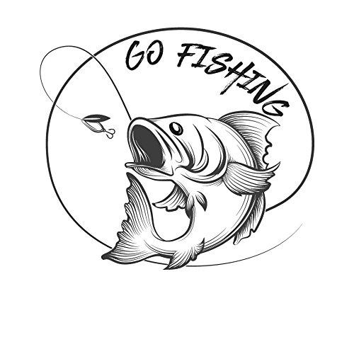 Go Fishing Aufkleber Sticker Angeln Fischen
