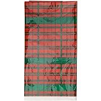 Plástico Mantel de Pascua de tartán de Navidad, 7ft x 4.5ft