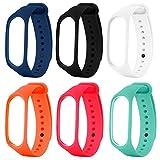 xiaomi mi Band 3,SOPEAR 6 stücke Verschiedene Farben Mode Silikon Ersatz Armband Armband Smart Band Zubehör für Xiaom