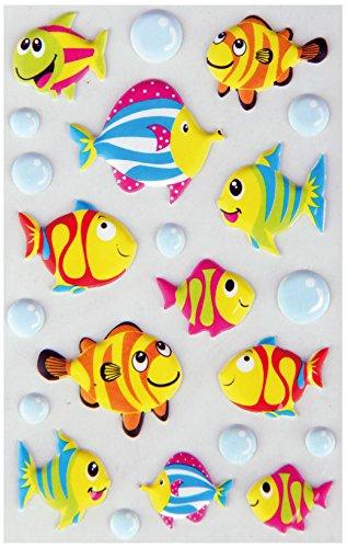 Bestlivings lustige und Niedliche Sticker zum Aufkleben, Stickerbögen mit Tieren, in vielen verschiedenen Motiven verfügbar (Design: Fische 1) -