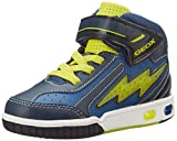 Geox JR GREGG C, Jungen Hohe Sneakers, Mehrfarbig (C0902BLUE/LIME), 30 EU