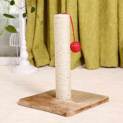 ZPP-Pet Miniatura de juguete de sisal sisal gato gato post post bola roja pequeña escalada cat cat tree