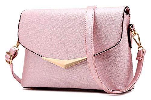 Lady Fashion PU Messenger Bag pink