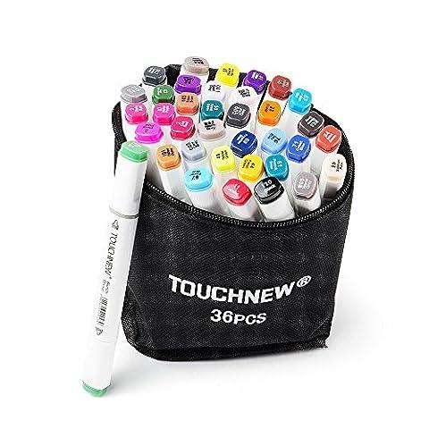36/48/80/168 Set Farbe TOUCHNEW Textmarker Graphic Drawing Art Dual Tip Sketch Pen Kunst Sketch Twin Marker Kugelschreiber Handgemalte Design Draft Bleistift (Only Marker Pen ser, 36 Bunte