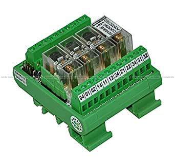 Shavison Relay Module AS363-24V-OE, 1C/O, 4 Channel, 24VDC Coil, OEN Relay, Reverse Blocking Diode, Directly Solderd Relay, Contact Rating : 28VDC/230VAC, 5A