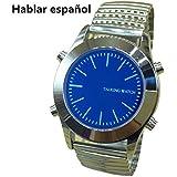 Español idioma Hablando reloj para las personas ciegas o yourself visuales deterioro con alarma cuarzo reloj