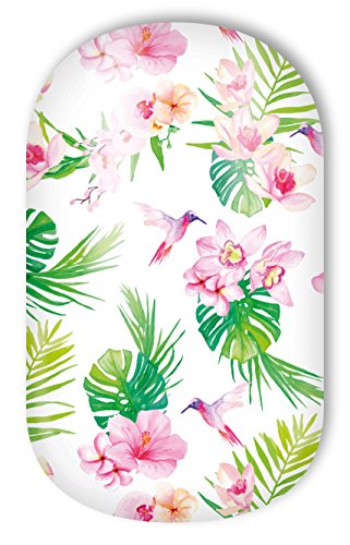 "MISS SOPHIE\'S Nagelfolie -\""Tropical Orchids\"", Blumen Rosa-Grün-Orchideen, 20 selbstklebende Nail Wraps"