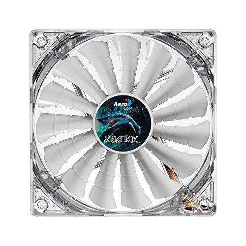 Aerocool Shark Ventola da 140 mm a 1500 Giri, Bianco