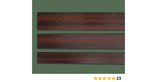 Fensterleiste Mahagoni 100 mm breit 6m lang Flachleiste Abdeckleiste Dekor Leiste