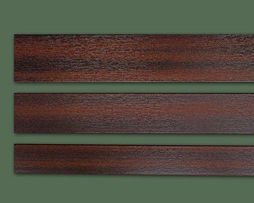 Fensterleiste Mahagoni 50 mm breit 6m lang Flachleiste Abdeckleiste Dekor Leiste farbig