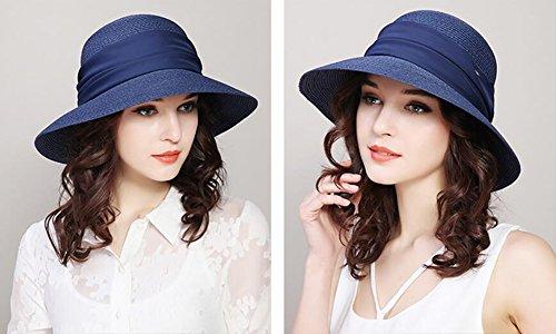 HWTYM Chapeau de paille Été Vacances en plage pour les femmes Voyage Chapeau en paille Grand chapeau de paille pliant en plein air ( Couleur : 1* ) 3*