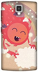 The Racoon Lean Happy Sun hard plastic printed back case/cover for Lenovo A1000